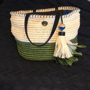Tory Burch large straw tote.